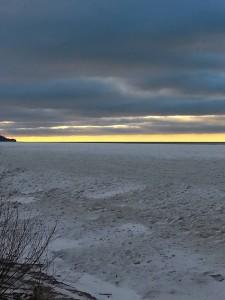 January Winter Sunset....Frozen Sunset 1